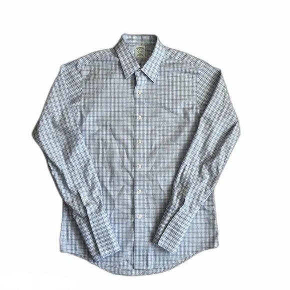Brooks Brothers 1828 Classic Plaid Dress Shirt